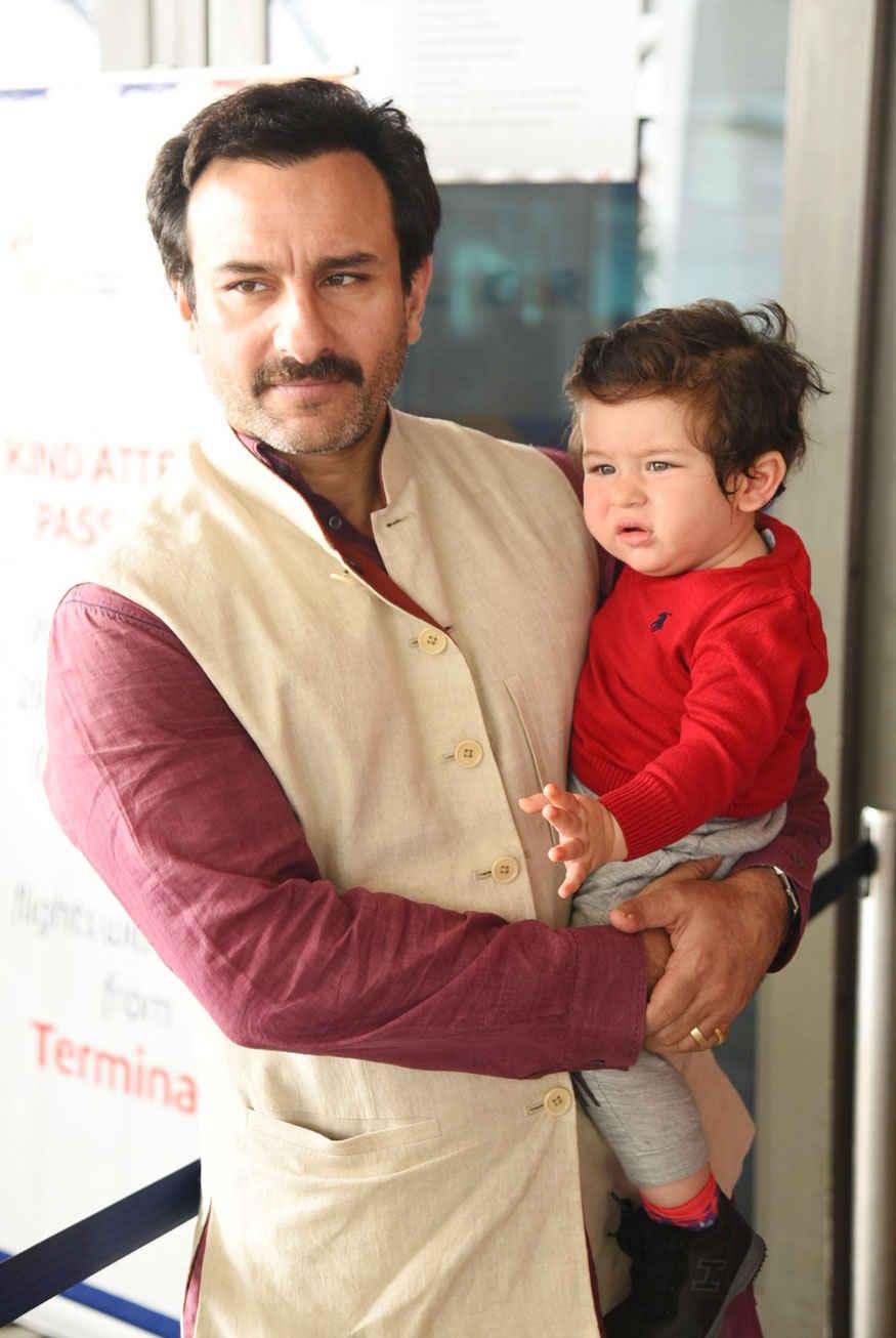 Latest News: Pics: Saif & Kareena With Son Taimur at Delhi ...