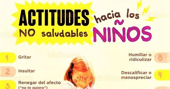 Psicologos Peru 12 Actitudes No Saludables Hacia Niños Y Niñas