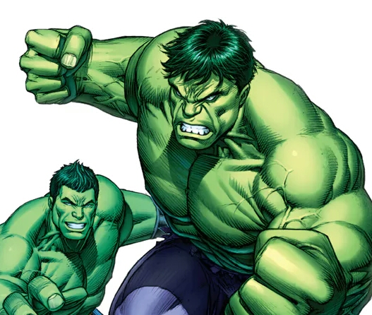 Banner Hulk And The Totally Awesome Hulk Finally Come Face To Face In New Comic Book Issue.