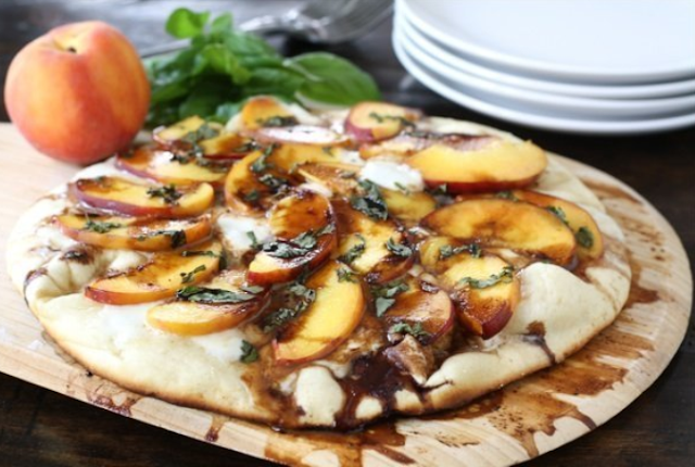 Pear Goat Cheese and Italian Sausage Pizza
