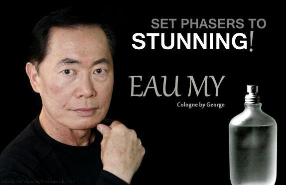 Funny George Takei Cologne Joke Picture