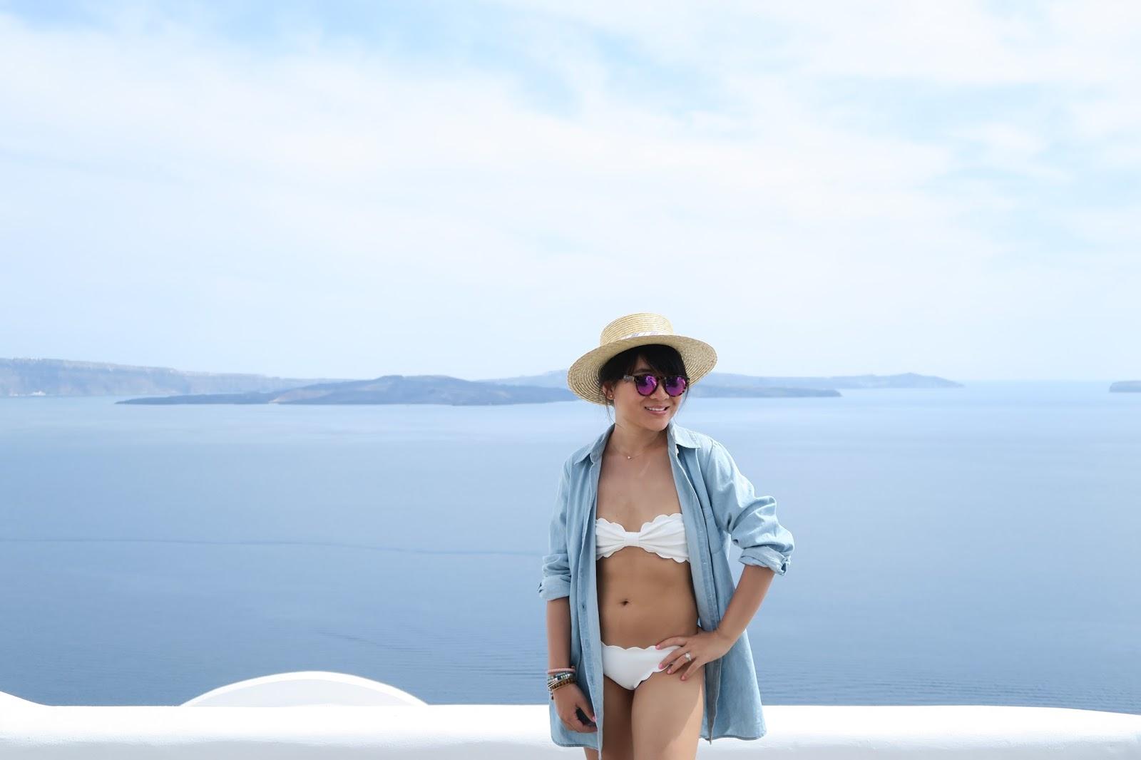 santorini greece outfit inspiration marysia swim