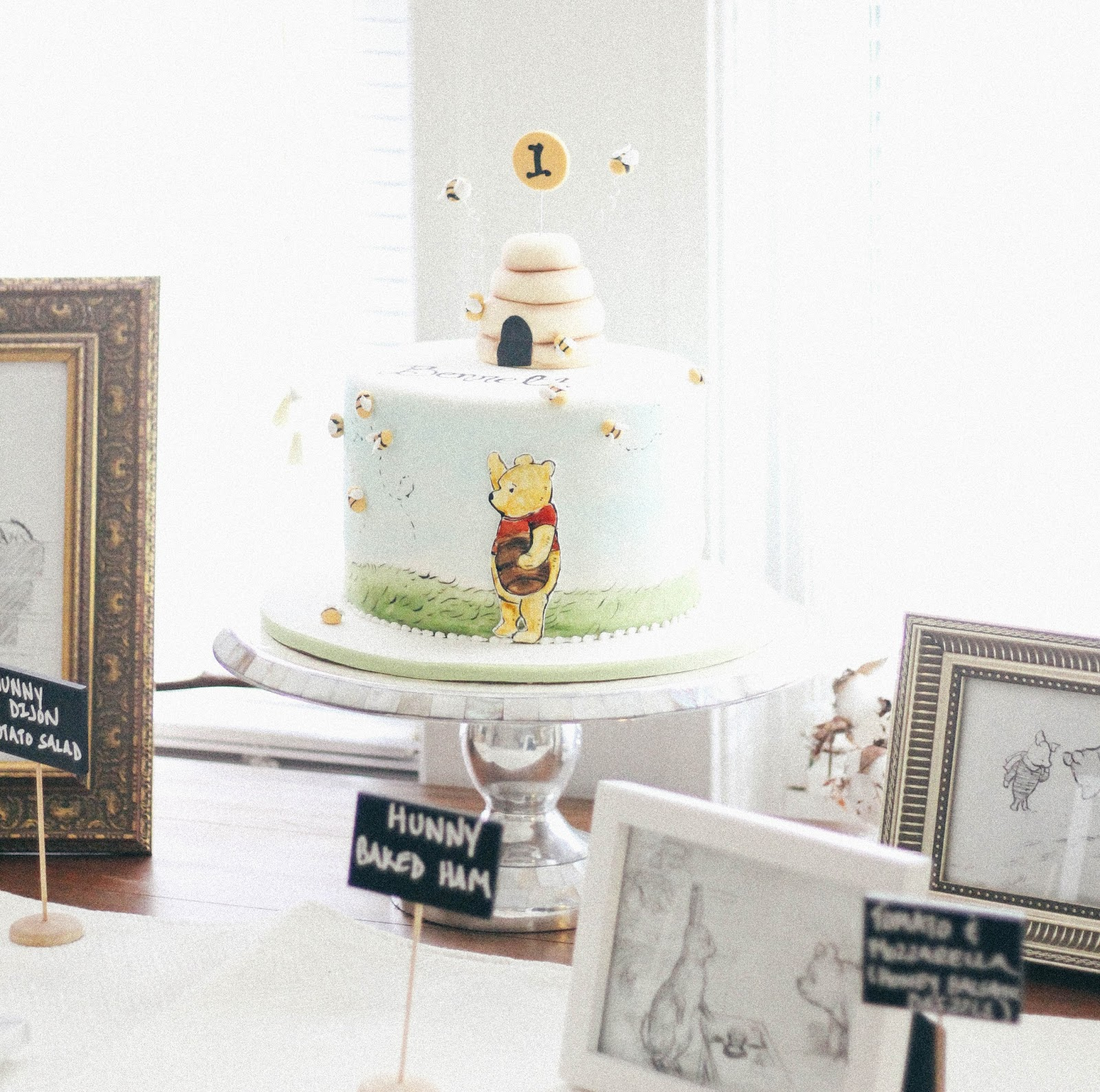 A Classic Winnie The Pooh 1st Birthday For Bennett See Glass