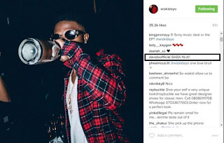 """BABA NLA"" Davido hails Wizkid Amidst Rumour Of Sony Music Deal (photo)"