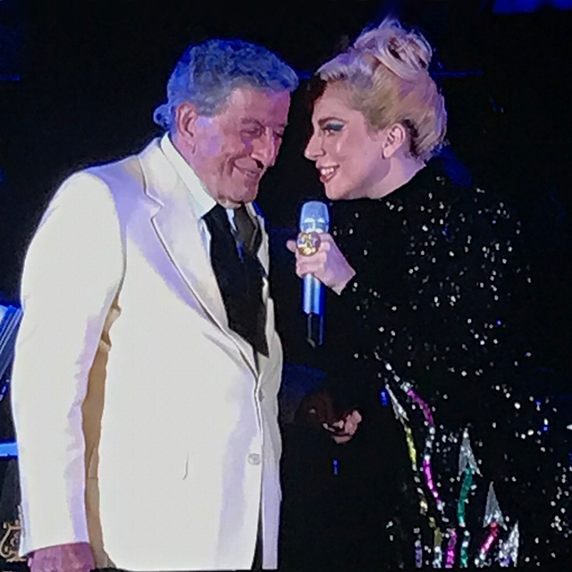 Lady Gaga Performs at Tony Bennett's Show at Hollywood Bowl