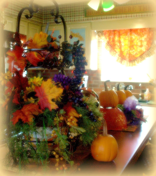 Fall on the Farm (at the Kitchen Bar with Pioneer woman dishes)