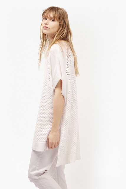 french connection white fisherman jumper, white fisherman jumper, white open knit jumper, white kimono jumper,