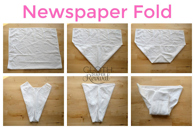 Newspaper Fold Cloth Diaper Revival
