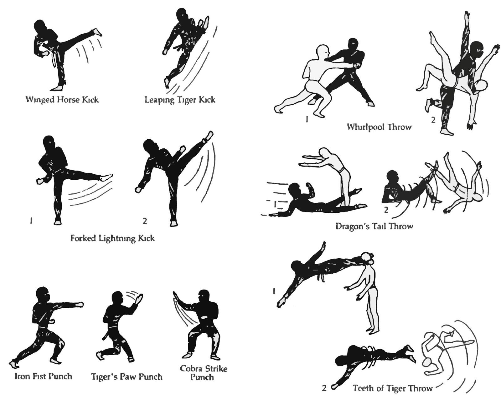 Shaolin Kung Fu Forms Diagrams
