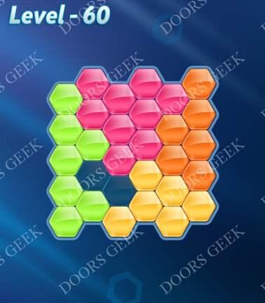 Block! Hexa Puzzle [5 Mania] Level 60 Solution, Cheats, Walkthrough for android, iphone, ipad, ipod