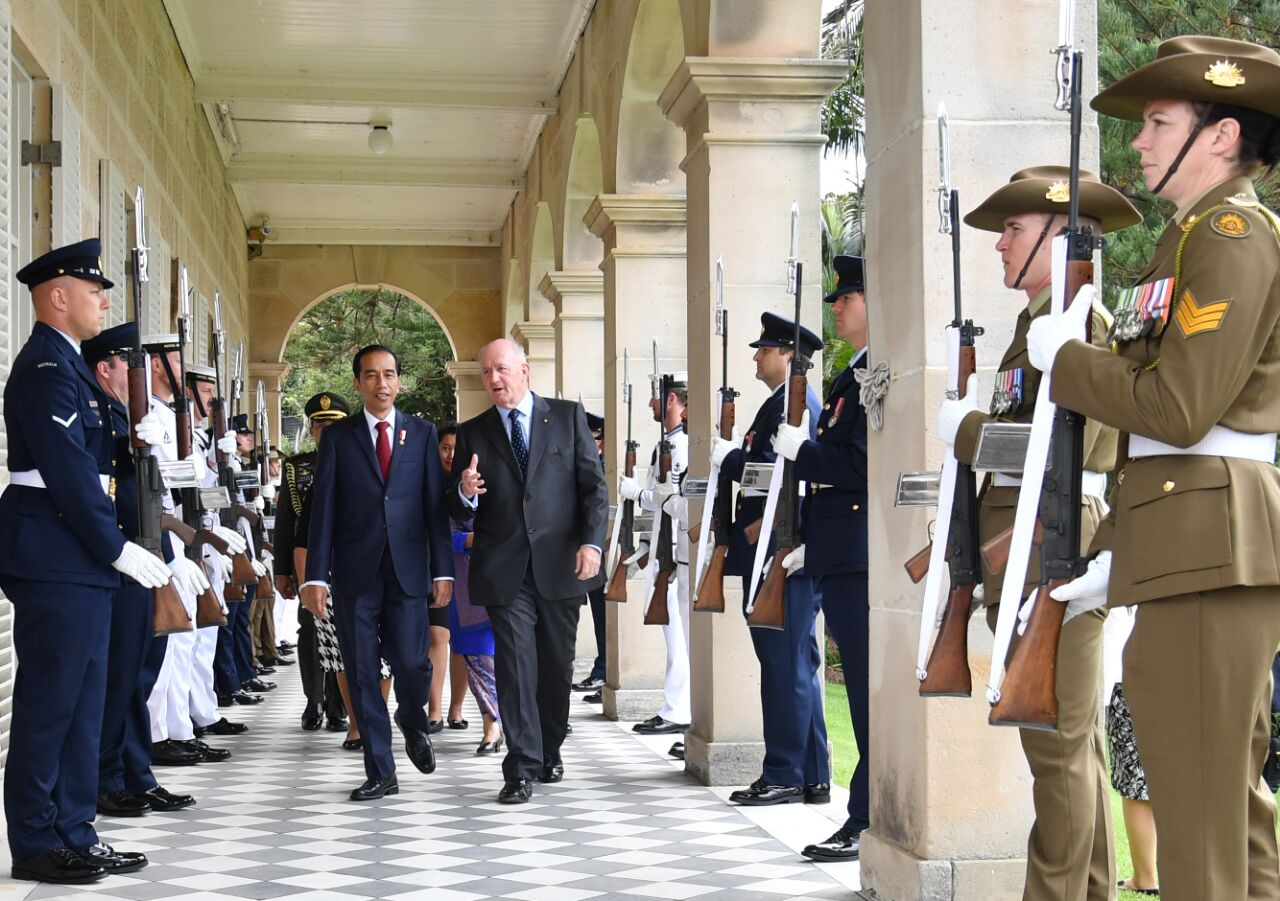 Disambut Gubernur Jenderal, Jokowi : Australia Tunjukkan Komi Perkuat Hubungan Bidang Ekonomi dan Keamanan