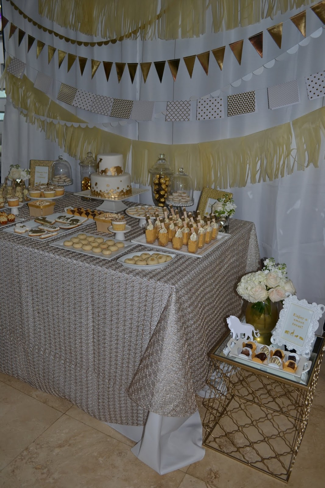 Partylicious Events Pr Golden Safari Baby Shower