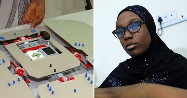 Fathia Abdullah, 12-year old Nigerian girl who invented a robot that folds laundry