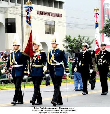 Foto de la Delegación Militar de Chile marchando. Foto tomada por Jesus Gómez