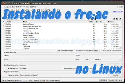Instalando o conversor de áudio fre:ac no Linux
