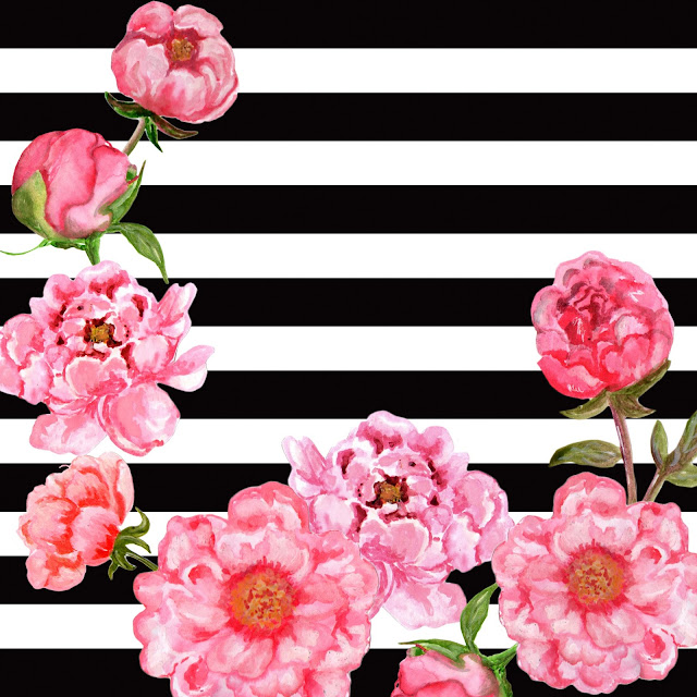 Peony Love Quote Wallpaper Doodlecraft Free Black Amp White Floral Background Patterns