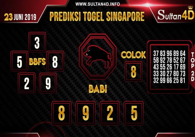 PREDIKSI TOGEL SINGAPORE SULTAN4D 23 JUNI 2019