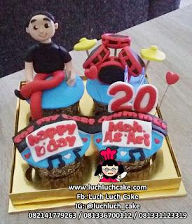 Cupcake Tema Alat Musik Drum