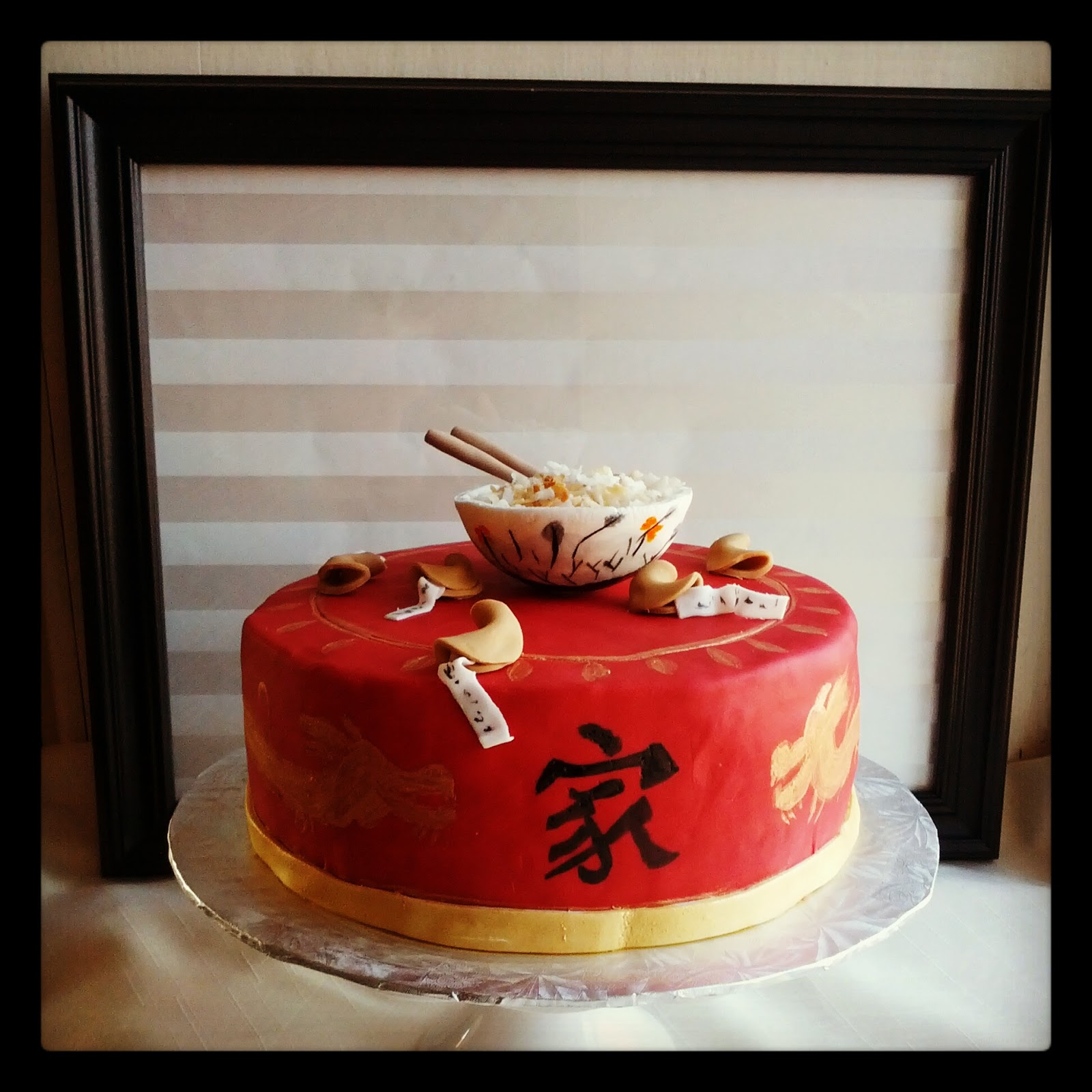 Second Generation Cake Design Chinese Themed Gotcha Day Cake