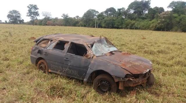 Homem furta viatura de unidade prisional e capota veículo durante fuga