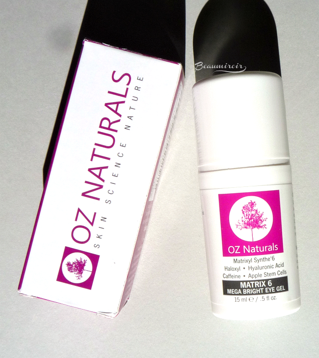OZ Naturals Matrix 6 Mega Bright Eye Gel review