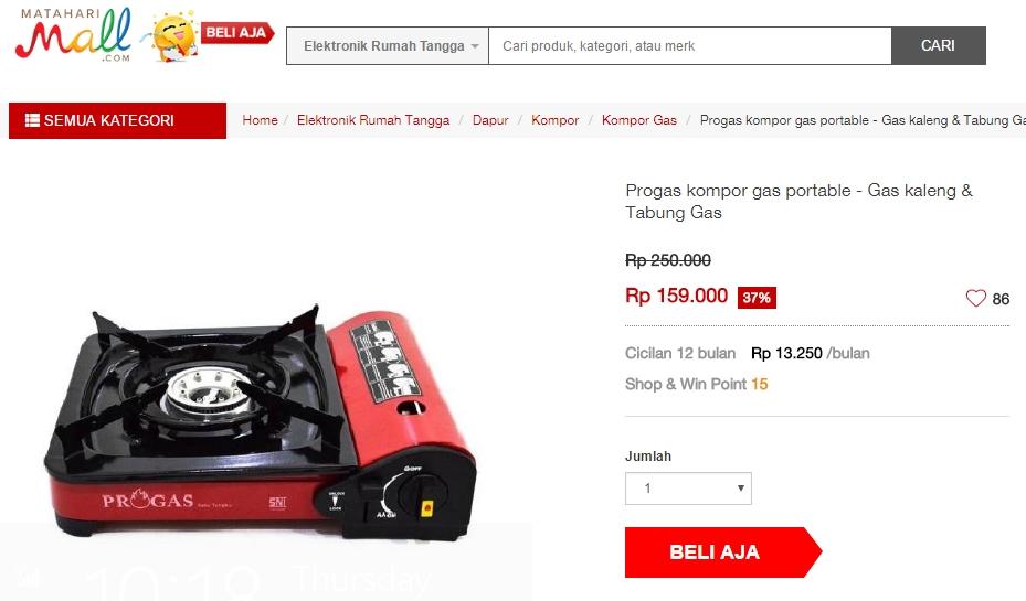 Untuk Kompor Gas Portable Merk Progas Harganya Adalah Rp 159 000 Di Mataharimall Ini Memiliki Kelebihan Selain Bentuknya Yang Ringan Dan