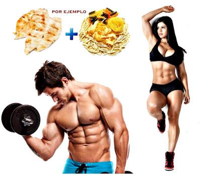 Alimentación masa muscular gimnasio nutrición
