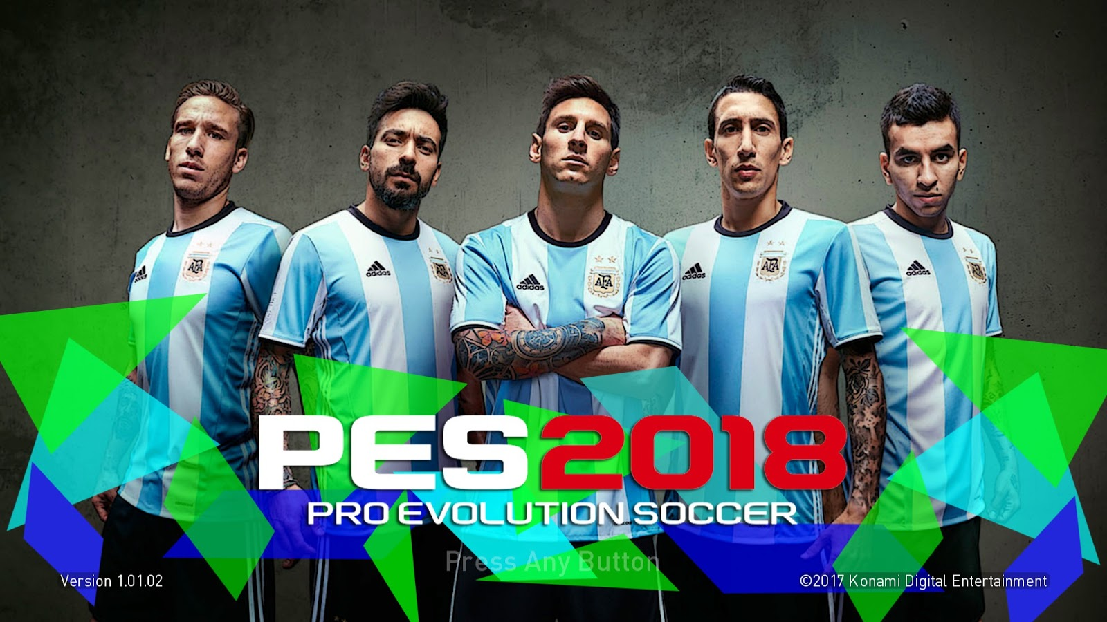 PES 2018 The Startscreen Wallpaper Argentina by Supalids