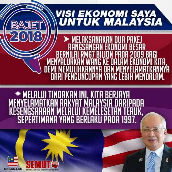 Najib Jana Ekonomi Untuk Rakyat, Mahathir Jana Ekonomi Untuk Kroni
