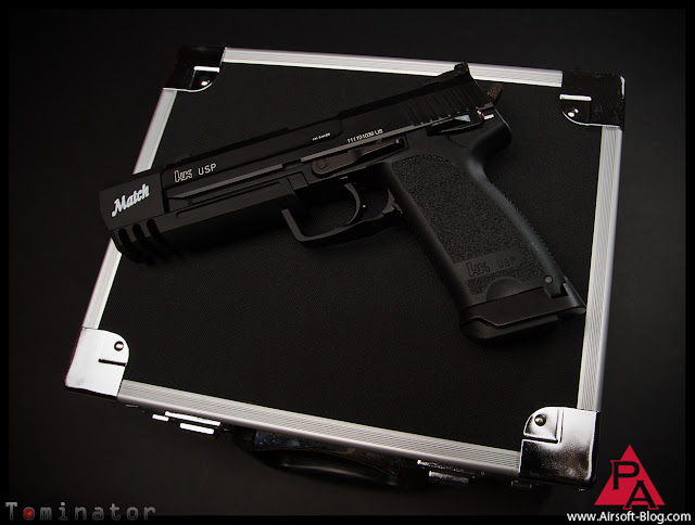 KWA HK USP Match Pistol, Tomb Raider Gun, Pyramyd Airsoft Blog, Tom Harris, Tominator,