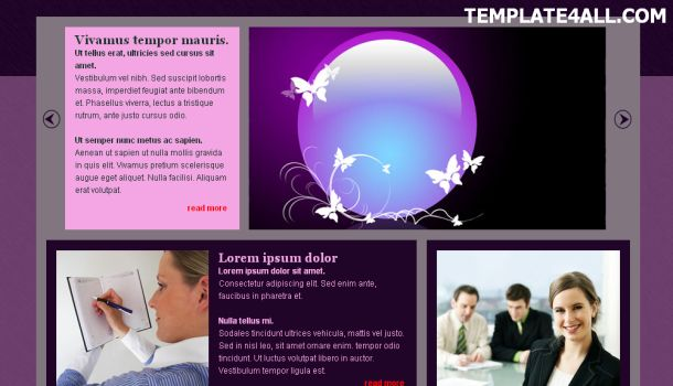 Violet Jquery CSS Website Template