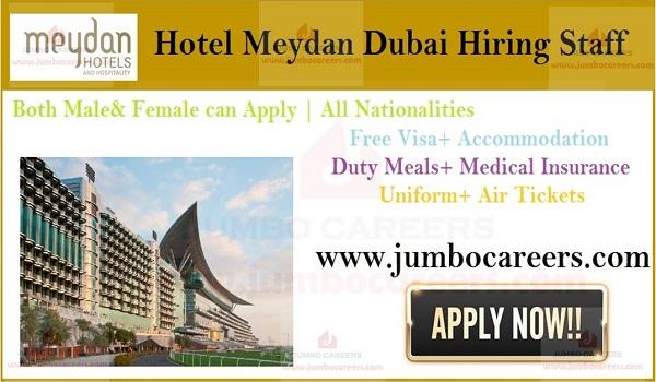Available job vacancies in Dubai hotel, Recent hotel jobs UAE,