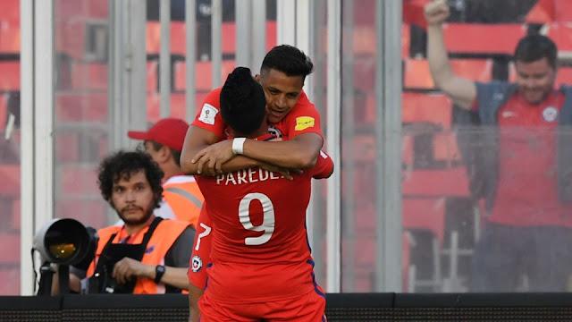 Chile 3-1 Venezuela eliminatorias Conmebol Rusia 2018