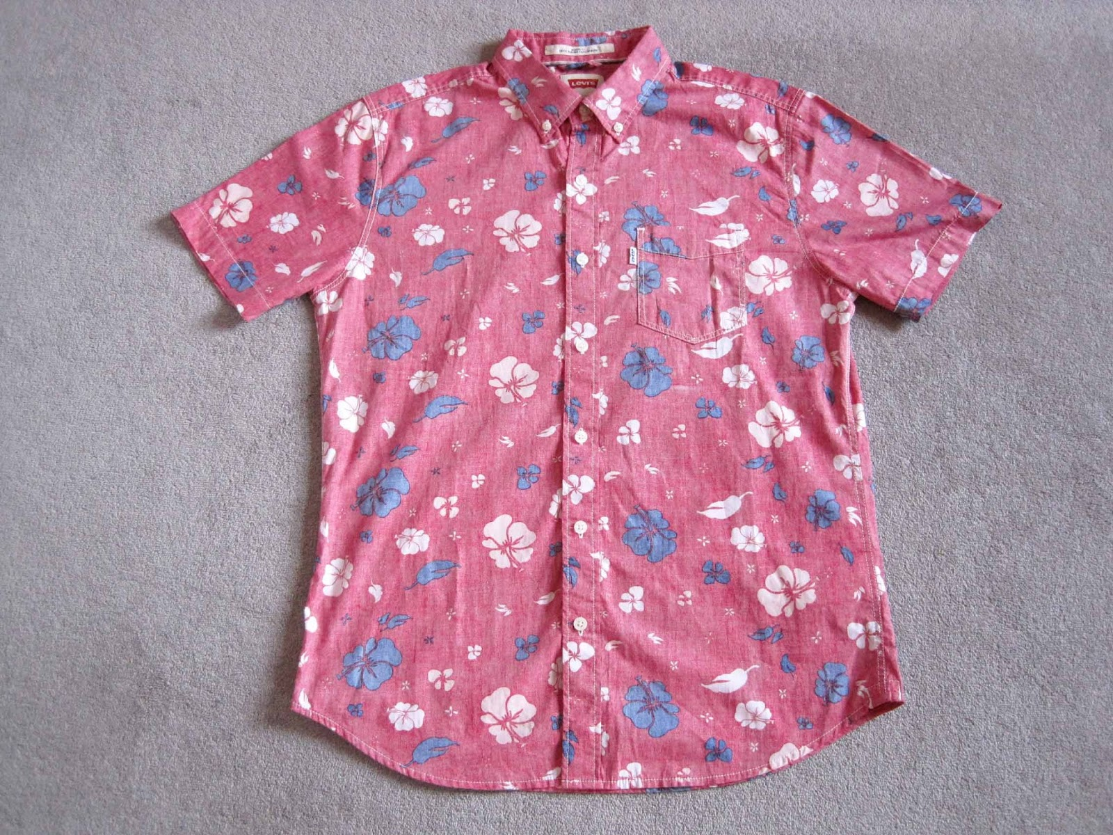 f570f1d9 levis hawaiian shirt, red hawaiian shirt, levis vintage clothing shirt, lvc  hawaiian shirt