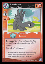 My Little Pony Thunderlane, Nerves of Steel The Crystal Games CCG Card