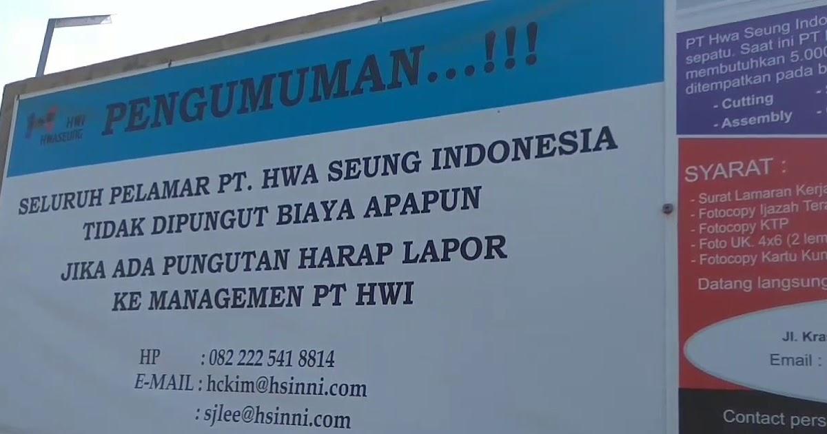 Hrd Pt Hwaseung Kami Welcome Pada Warga Sekitar