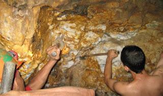 filão hidrotermal de ouro