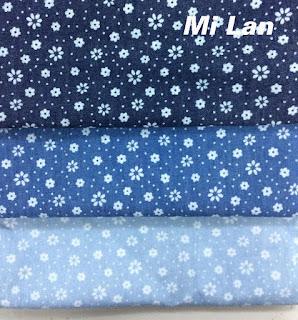 Vải jean phối in hoa P45
