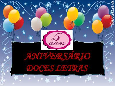 SORTEIO #28 - 5 ANOS ANIVERSÁRIO DOCES LETRAS