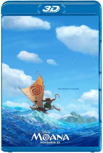 Moana: Un Mar de Aventuras (2016) 3D SBS Latino