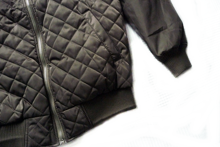 Raglan Sleeve Padded Bomber Jacket gamiss.com review