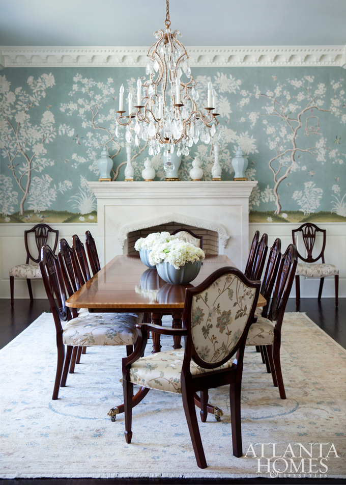 Chinoiserie chic chinoiserie trends 2017 green white for Dining room 2014 trends