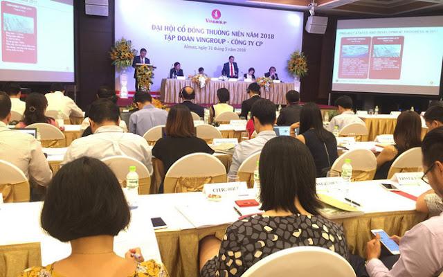 Tập đoàn Vingroup - Công ty CP đã tiến hành tổ chức ĐHCĐ