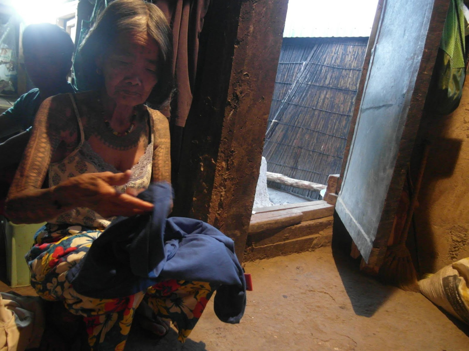 Apo Whang-Od wakes up early to prepare for a long day ahead