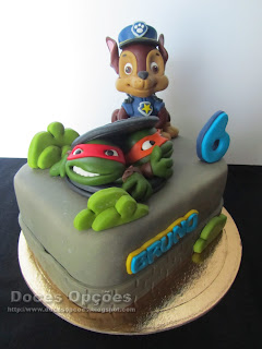 ninja tartules cake paw patrol