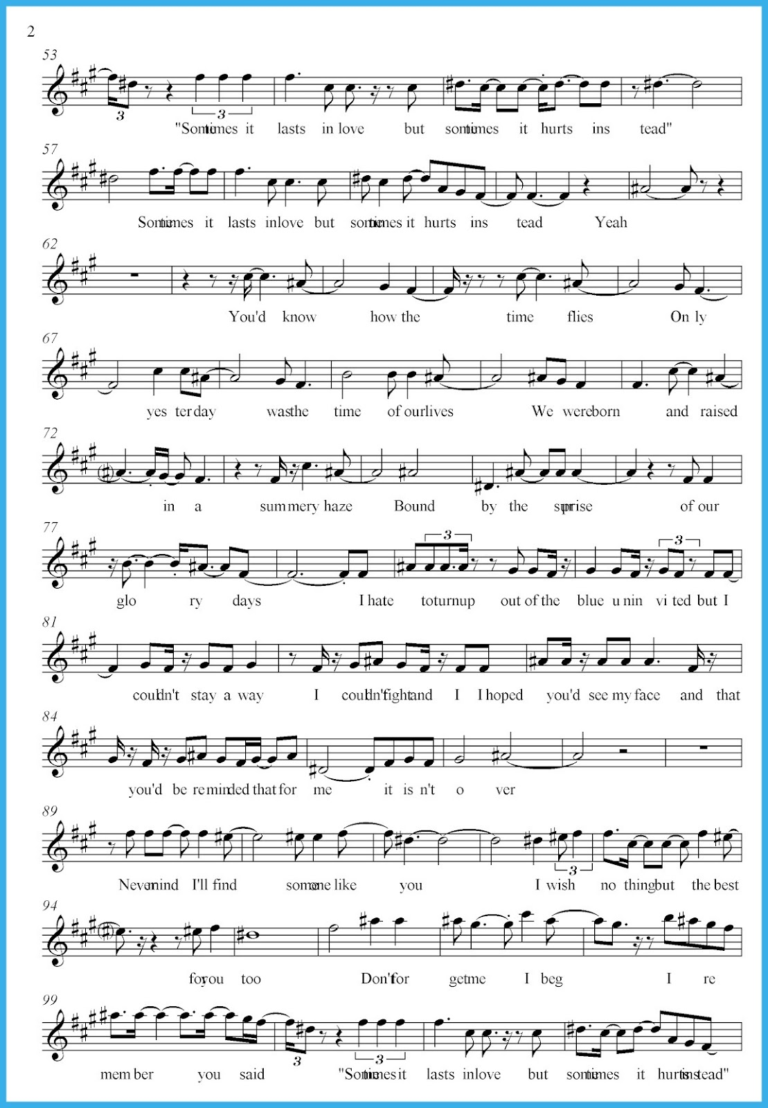 Someone like you adele score and track sheet music free free an error occurred hexwebz Image collections
