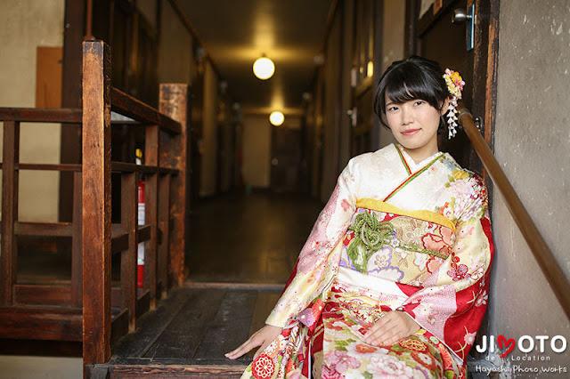 成人式前撮りをレトロな京都で