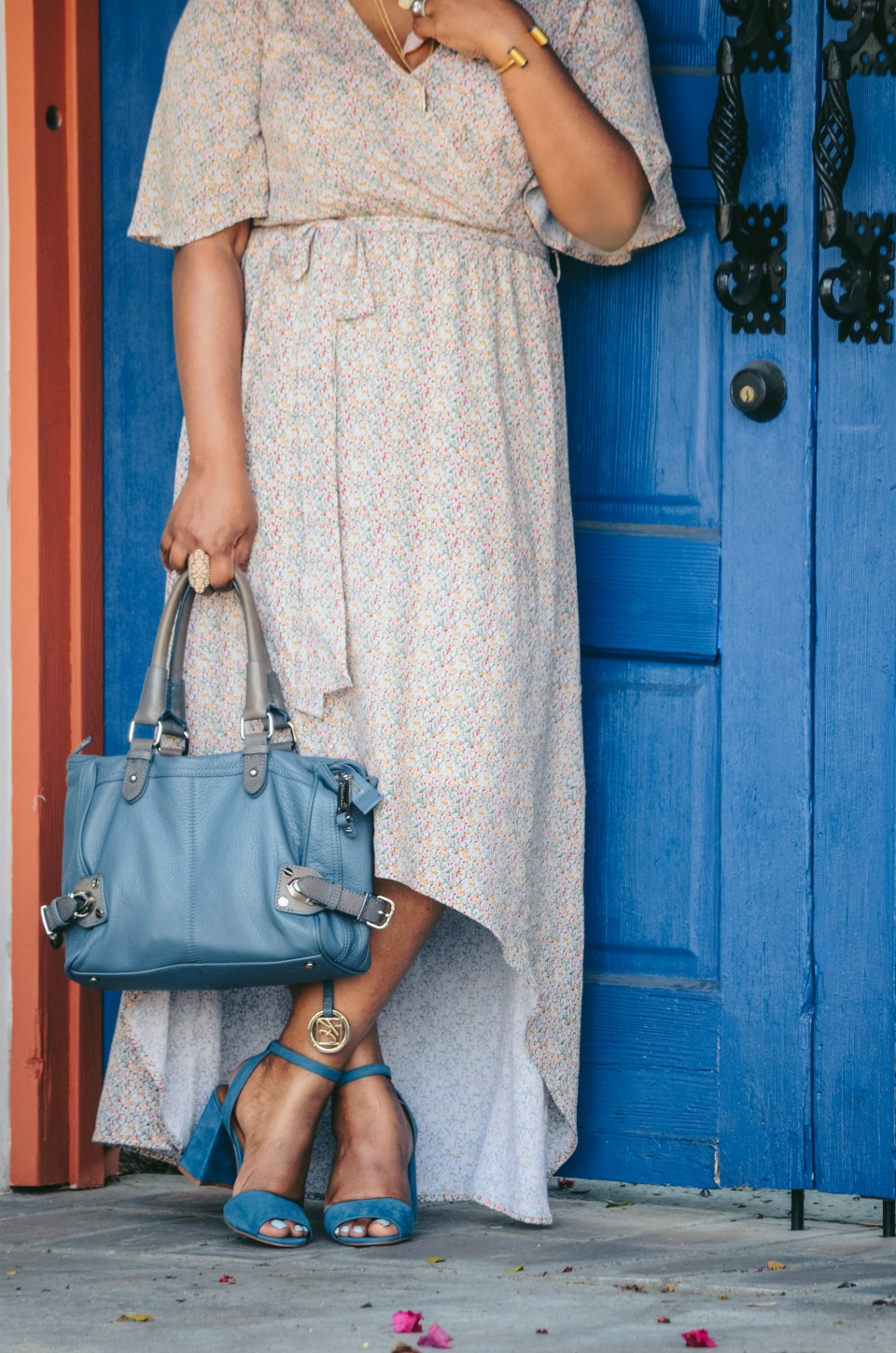 Palm Springs High and Low Hem Maxi Dress with Bell Flutter Sleeves