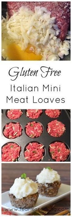 Gluten Free Italian Mini Meat Loaves