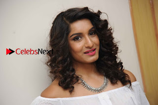 Kannada Model Actress Krishi Thapanda Stills in Ripped Jeans at Eradu Kanasu Movie Press Meet  0014.jpg